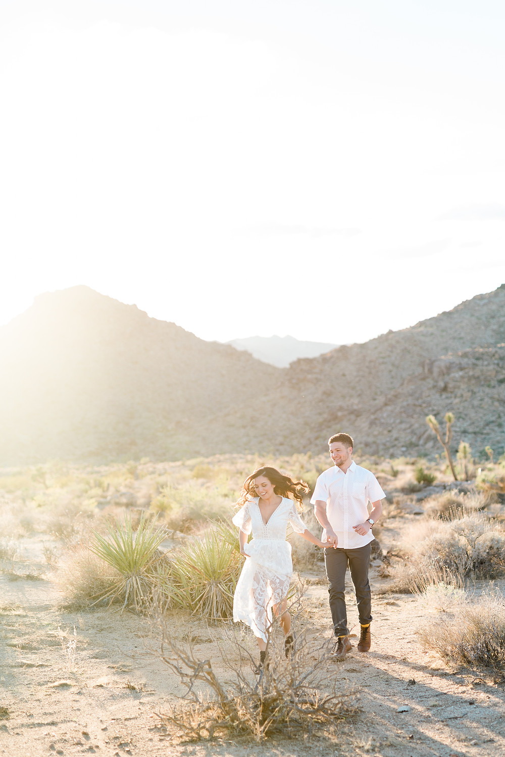 Romantic and Beautiful Joshua Tree Engagement Photos - Corona wedding and portrait photographer