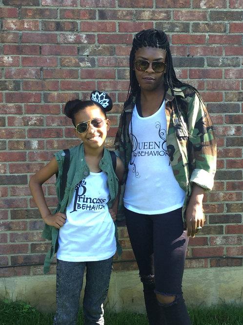 Queen and Princess Behavior Black/White