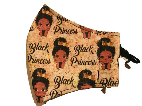 Black Princess Gold Mask