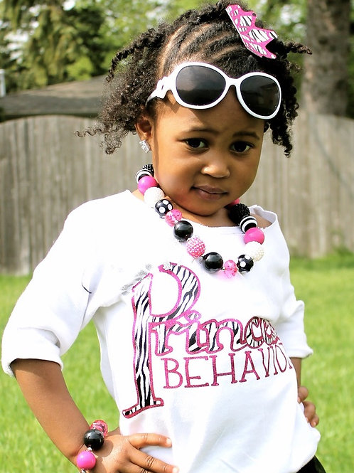 Princess Behavior Zebra Print