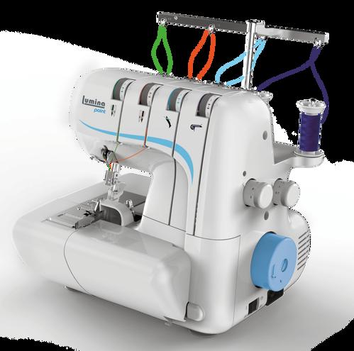 Máquina de coser overlock Lumina Point celeste
