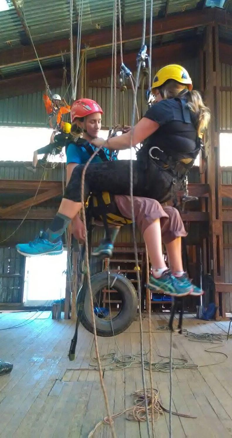 Rope access training (Jaimie Cleeland)