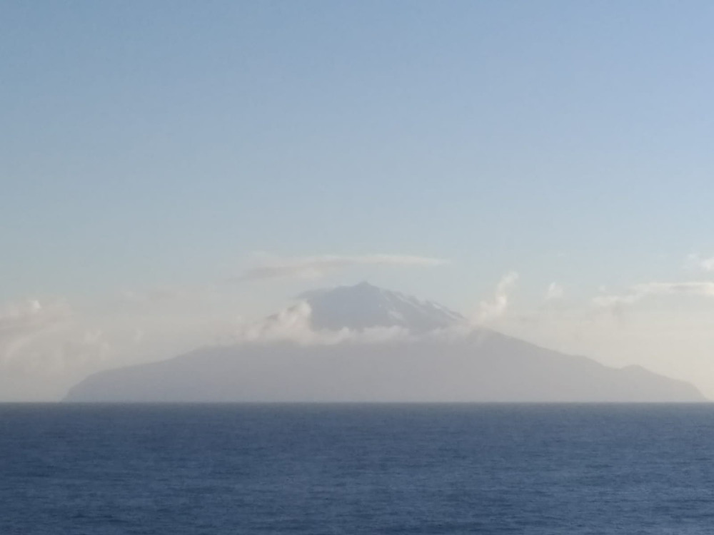 Our first view of Gough Island!