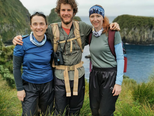 Welcome Kim, Von and Roelf, our new Field Assistant team on Gough Island!