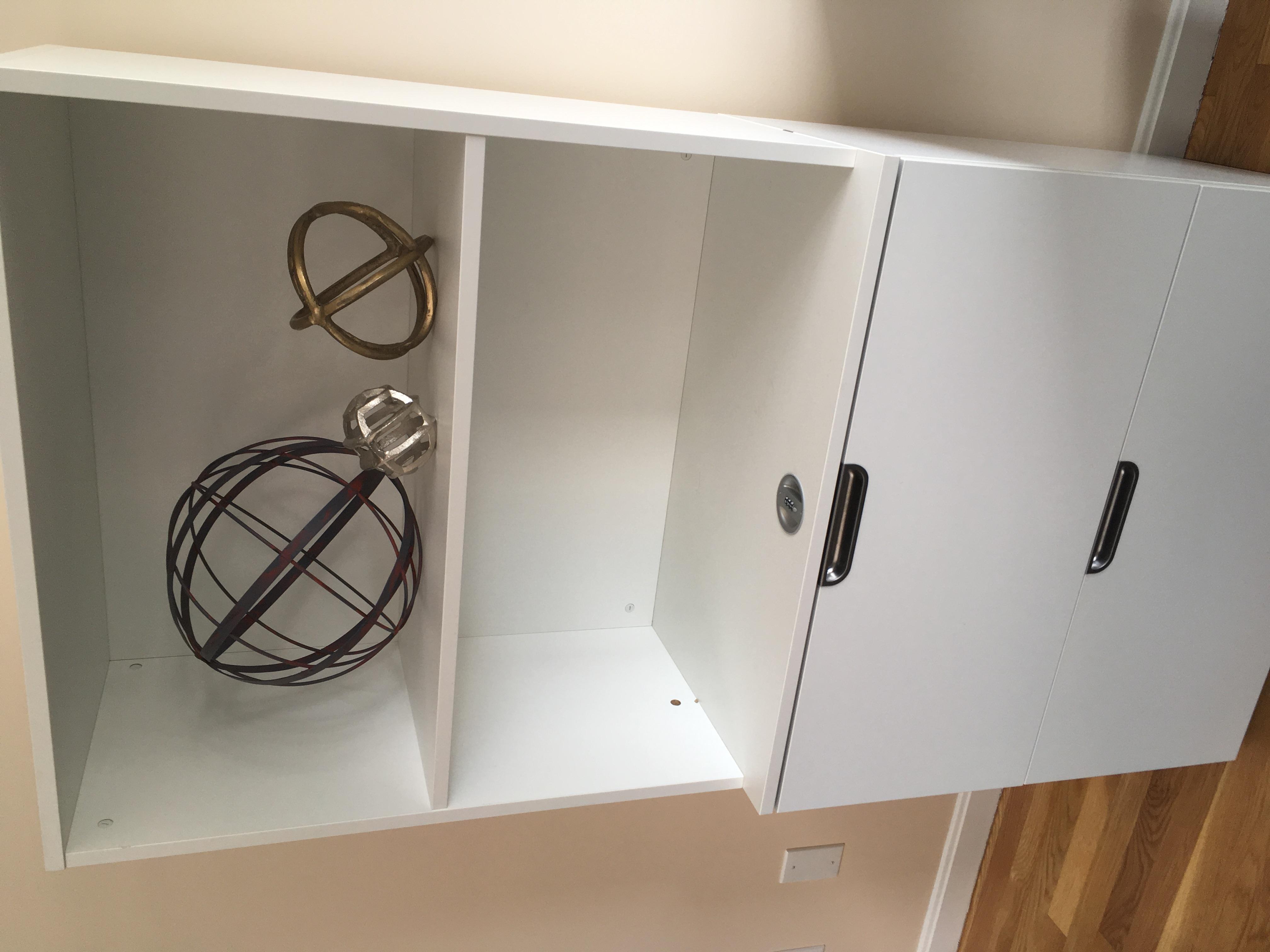 Locking storage available