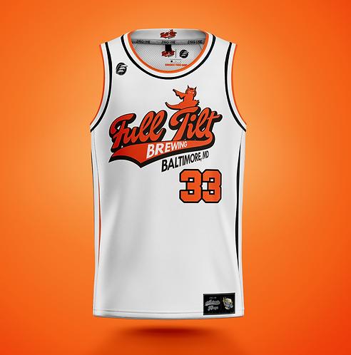 Full Tilt Brewing 'Home: 33: GALACTICAT' Basketball Jersey
