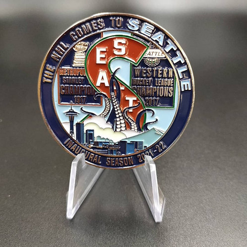 Seattle Hockey 'BACK THE BLUE' Coin