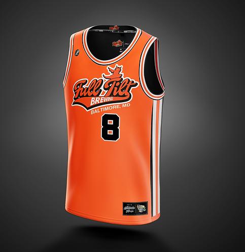 Full Tilt Brewing 'Classic Orange JAMS' Basketball Jersey