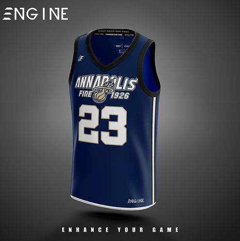 Annapolis Fire Basketball Jersey 'Official Custom'