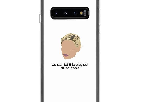 """Iconic"" white Samsung Case"