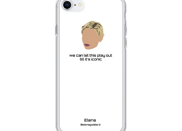 """""""Iconic"""" white iPhone case. XSMax and earlier versions"""