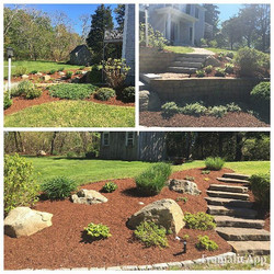 Mulching and Spring Clean-Up yesterday #capecodtreeandlandscape #orleans #summerrental #capecod #cle