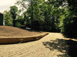 Locust Rd new driveway  and wall 2015
