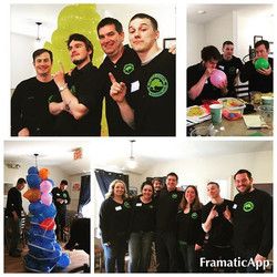 CCT&L 2016 Spring Staff Training Day_ More team building games pics (Team Balloon Tower Building Com