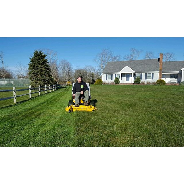 Springtime! Mow Crew in action! #capecodtreeandlandscape #mowingseason #orleans #capecod _tsmiith92