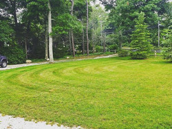 Lawn crew was rocking it in the rain this morning! #capecodtreeandlandscape #walkermowers #orleans #