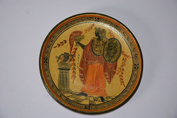 Wall Plate made in Greece - (hard clay plate)
