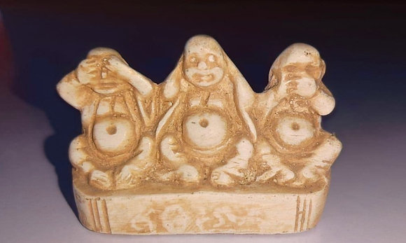 ceramic art Home Decor 3 people The Blind The Deaf The Dumb