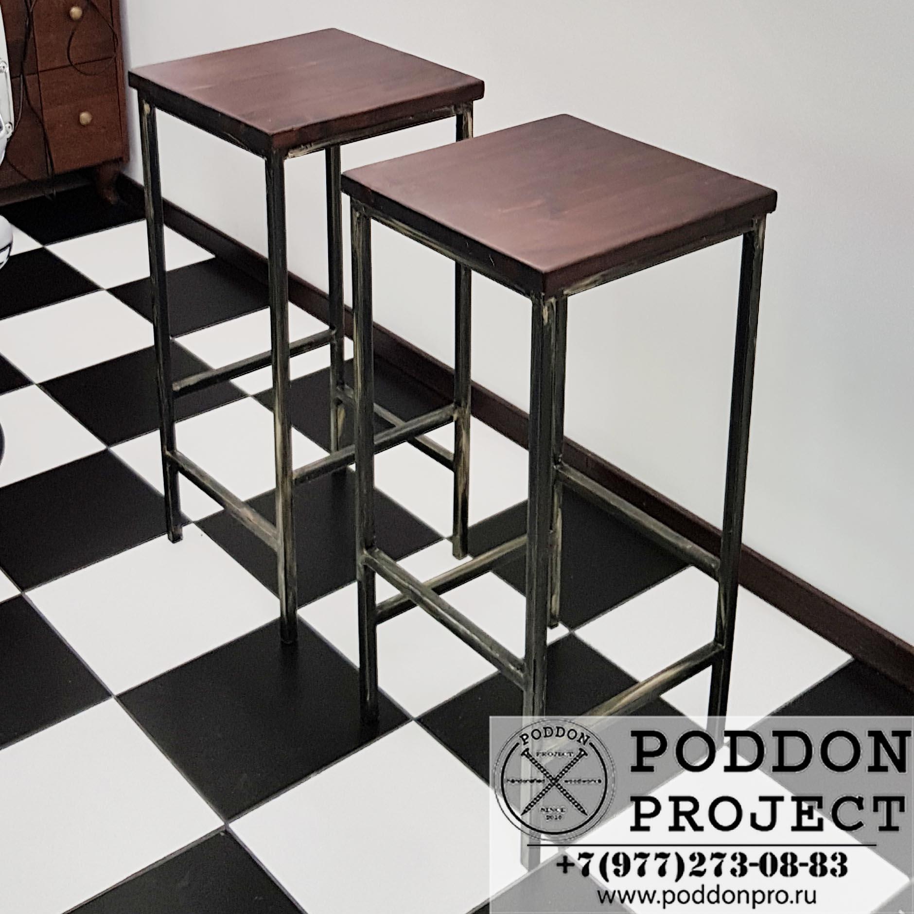 Барные стулья с лого Кавдрат