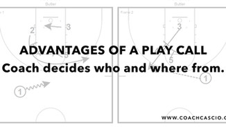 When to call a set play...