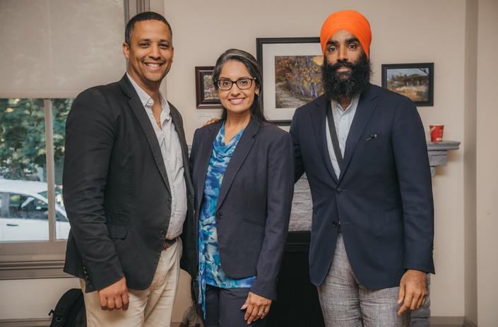 Sukhi with Matthew Green and Gurrattan Singh