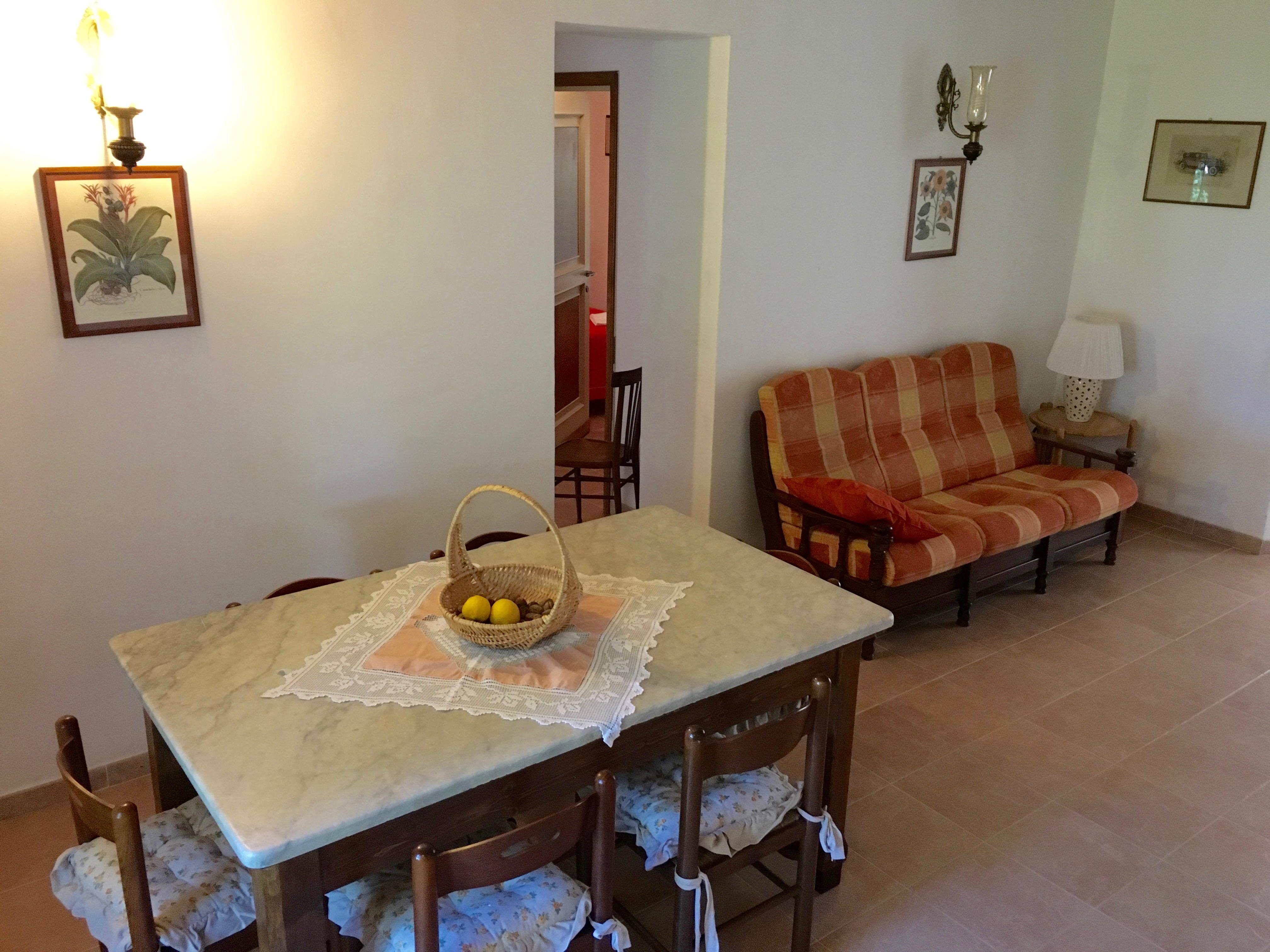 Casal Taccone appartamento gli usignoli soggiorno