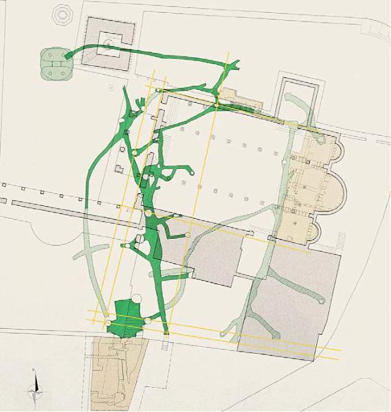 Mappa del labirinto di Porsenna a Chiusi