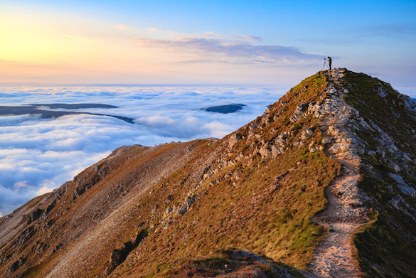 'Errigal Cloud Inversion' by Colm McMullan, Raw Camera Club