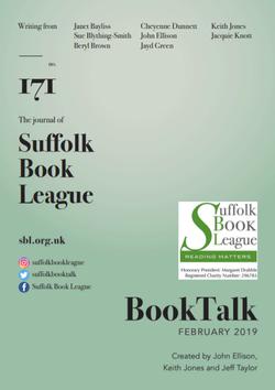 Booktalk edition 171