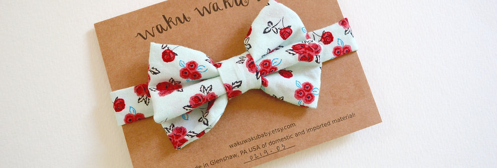 Handmade floral bow tie for 5-8 year olds