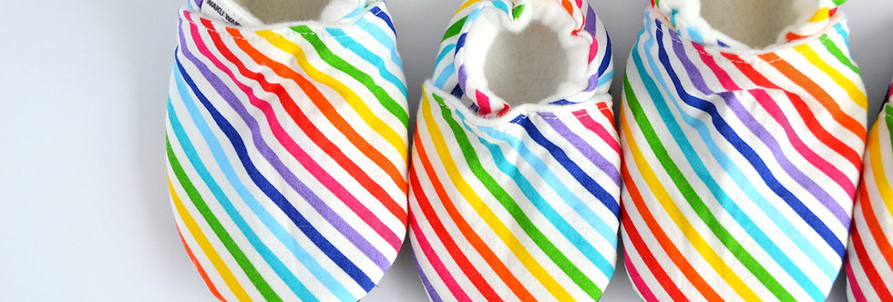 Matching Family Room Shoes - Rainbow Stripes