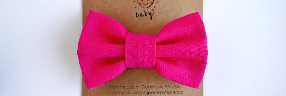 Classic Hair Bow - Hot Pink