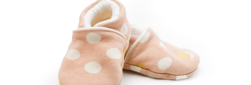 Organic Bamboo Baby Shoes - Pink Dots