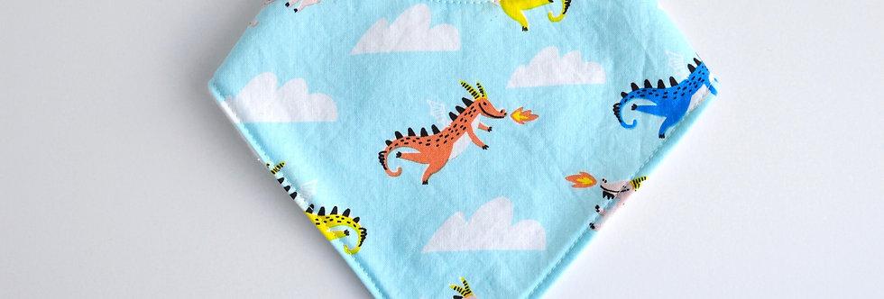 Baby Bandana Bib - Fire Dragons