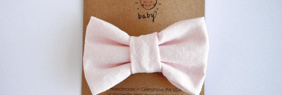 pastel pink hair bow