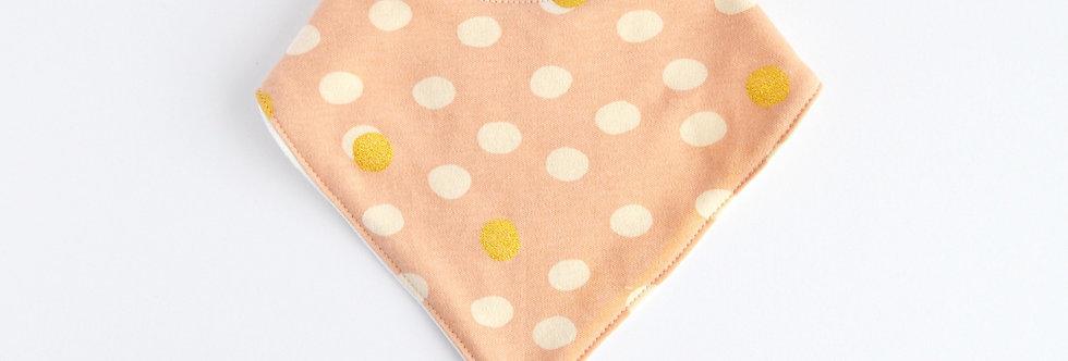 Organic Bamboo Bandana Bib - Pink Dots