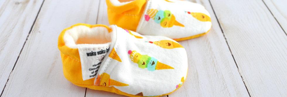 Cotton Baby Shoes - Vanilla Ice Cream