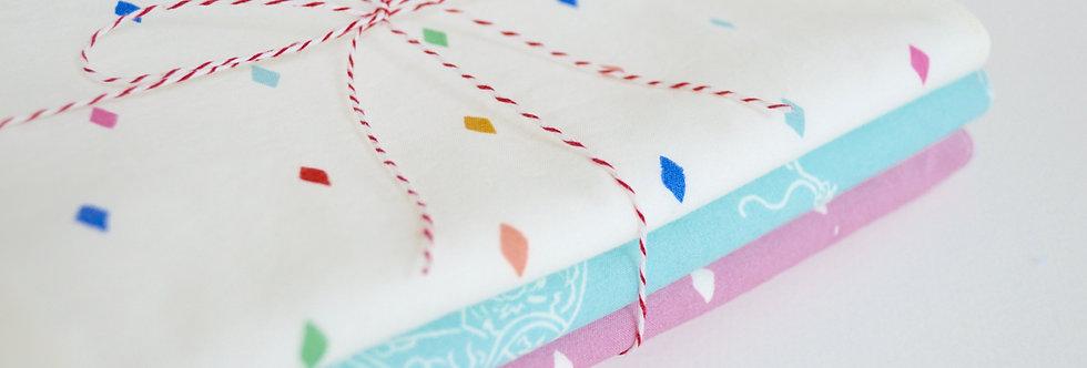 Organic burp cloth gift set ready for gifting