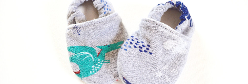 Cotton Baby & Toddler Shoes - Knights and Dragons