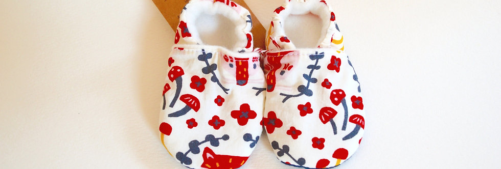 Organic Cotton Baby Shoes - Foxy Navy