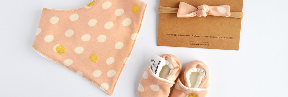 Organic Bamboo Baby Bundle - Pink Dots