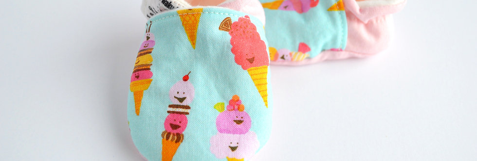 Cotton Baby Shoes - Mint Ice Cream