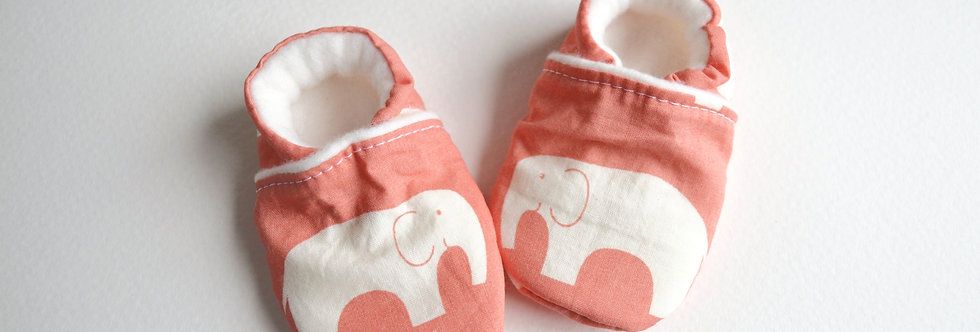 Coral elephant shoes