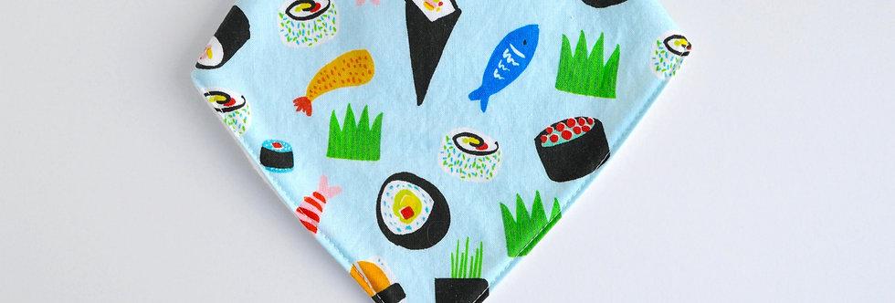 Baby Bandana Bib - Sushi Light Blue