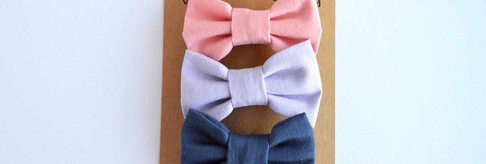 set of three hair bows