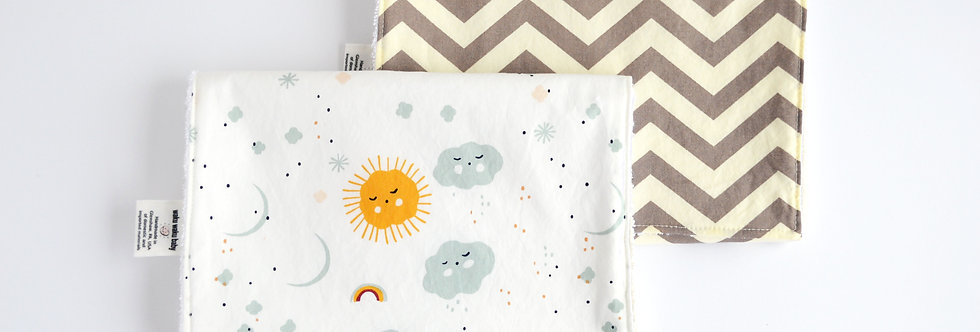 Organic Burp Cloth Gift Set - Dreamer Chevron