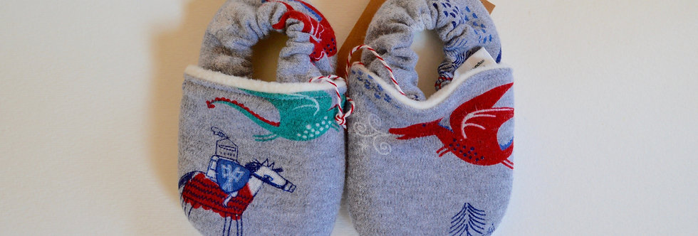 Organic Cotton Baby Shoes - Lily Pad Frogs
