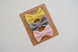 classic hair bow set by Waku Waku Baby