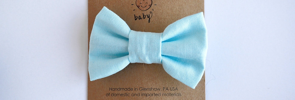pastel blue hair bow