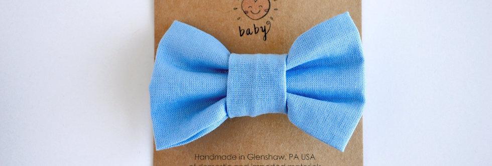 Classic Hair Bow - Light Blue